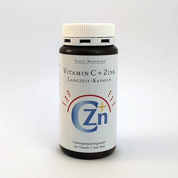 Großpackung Vitamin C + Zink Kapseln (300mg + 5mg)