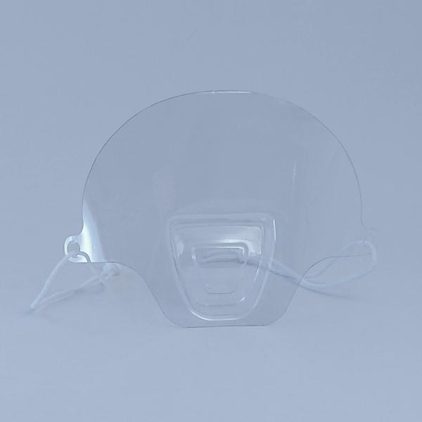 Transparentes Mini Visier für Mund und Nase