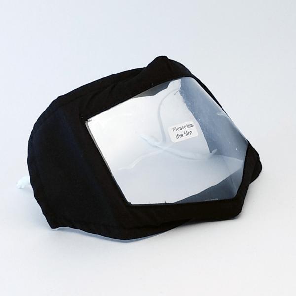 Mund-Nasen Maske mit Sichtfenster